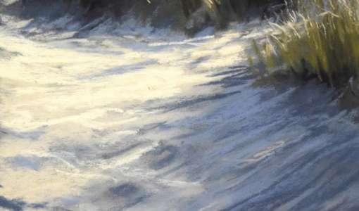 Dünen und Strand in Pastell