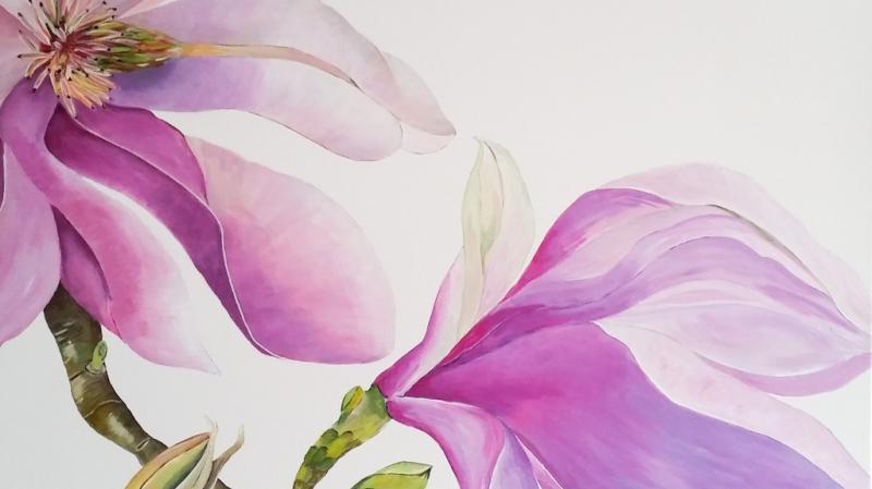 Spachteltechnik und Malerei - Workshop mit Heidi Gerstner und Hubertine Wingerath