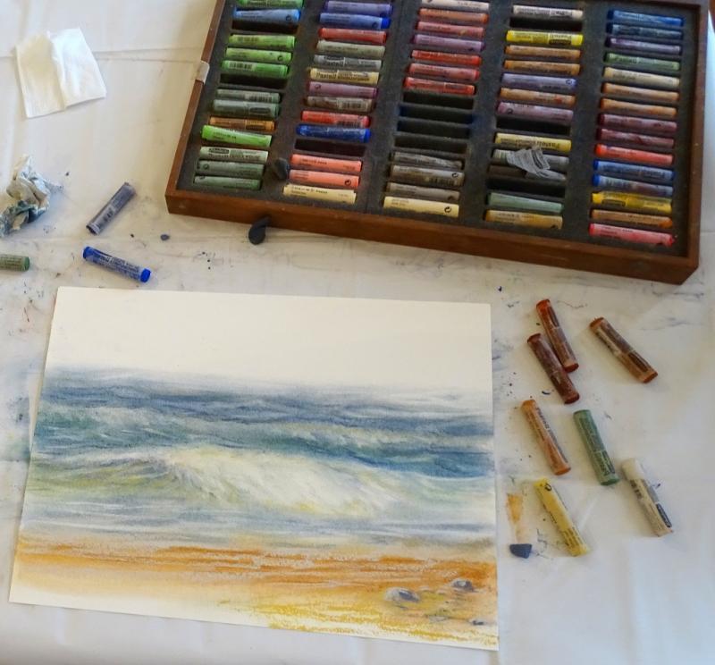 Realistische Landschaftsmalerei in Pastell