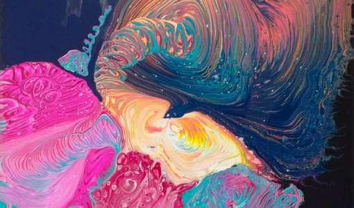 Acrylic Pouring mit Vorkenntnissen