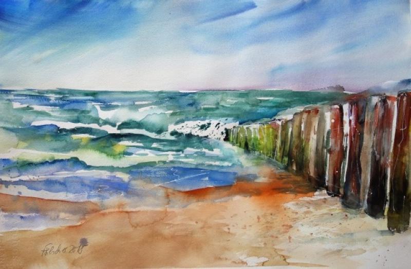Wind, Wetter, Wasser, Welle und die die Umsetzung in stimmungsvolle Aquarelle