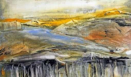 *Ölmalerei ganz leicht: Abstrakte Landschaft auf Holz