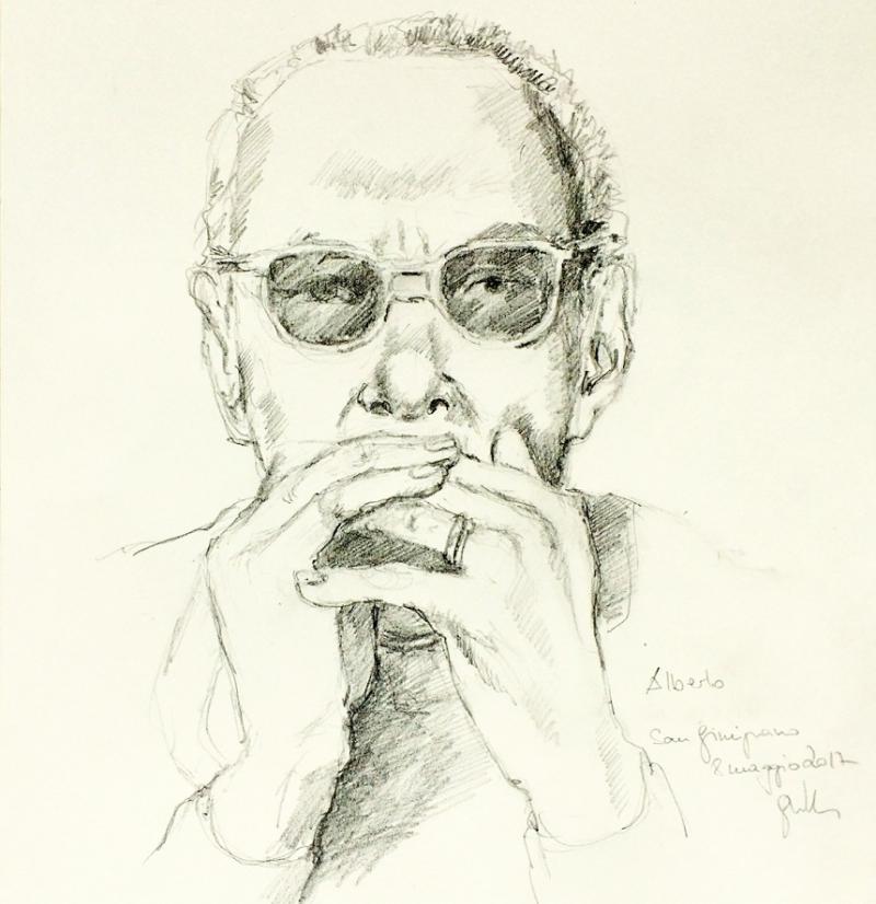 Portrait Schraffur