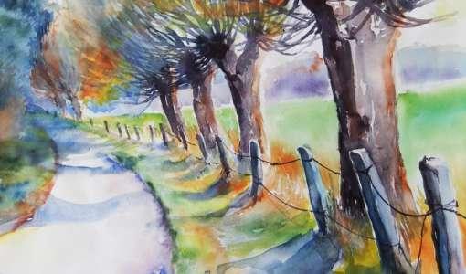Vom Motiv zum fertigen Bild - farbenfrohe Herbstlandschaften