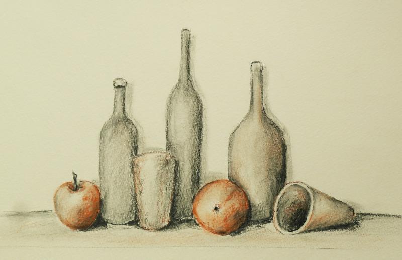 Reihe Zeichnen & Malen: Kohle und Rötel für Objektgruppen
